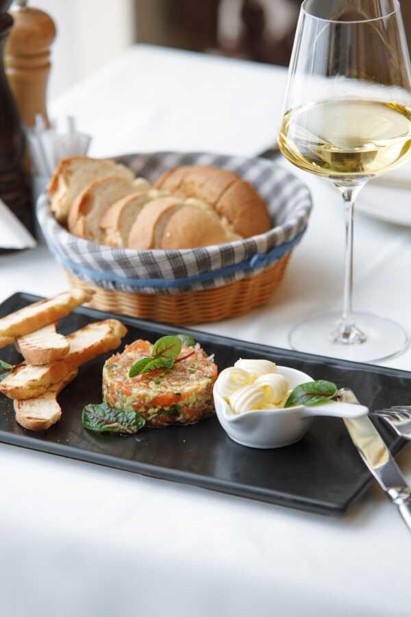 «Тартар из лосося» - в ресторане Пикассо Казань